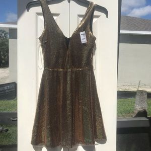 NWT Charlotte Russe Gold Sequin Dress Size Small